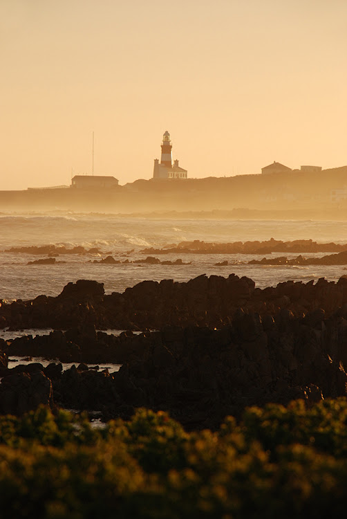 Cape Agulhas at sunset.