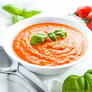 5-Ingredient Roasted Tomato Soup (Low Carb, Gluten-free).