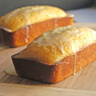 Mini Citrus Pound Cake Loaves with a White Chocolate Glaze