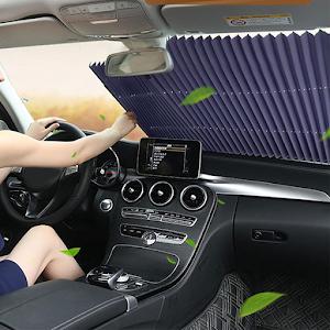 Copertina parasolar auto impotriva razelor UV, fixare prin ventuze