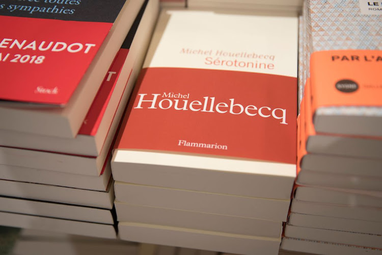 Copies of French award-winning writer Michel Houellebecq's seventh new novel Sérotonine are displayed in a book store in Paris on January 4 2019. Picture: AFP/THOMAS SAMSON)