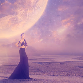 A Dreamy World... by Ilkgul Caylak - Digital Art Places ( creatice, nature, photoshop, girl, landscape, nice )