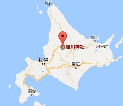 地図:旭川神社
