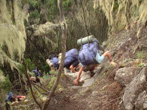 Photo: Rock step om Umbwe Approach