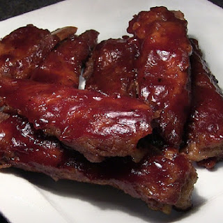Baked BBQ Spare Ribs.
