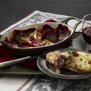 Baked Red Onions with Ciabatta