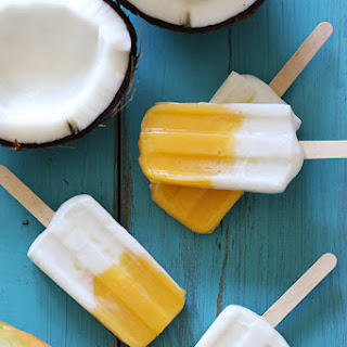 Simply Obsessed Frozen Coconut Mango Pops