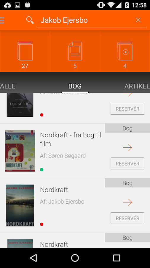 Biblioteket- screenshot