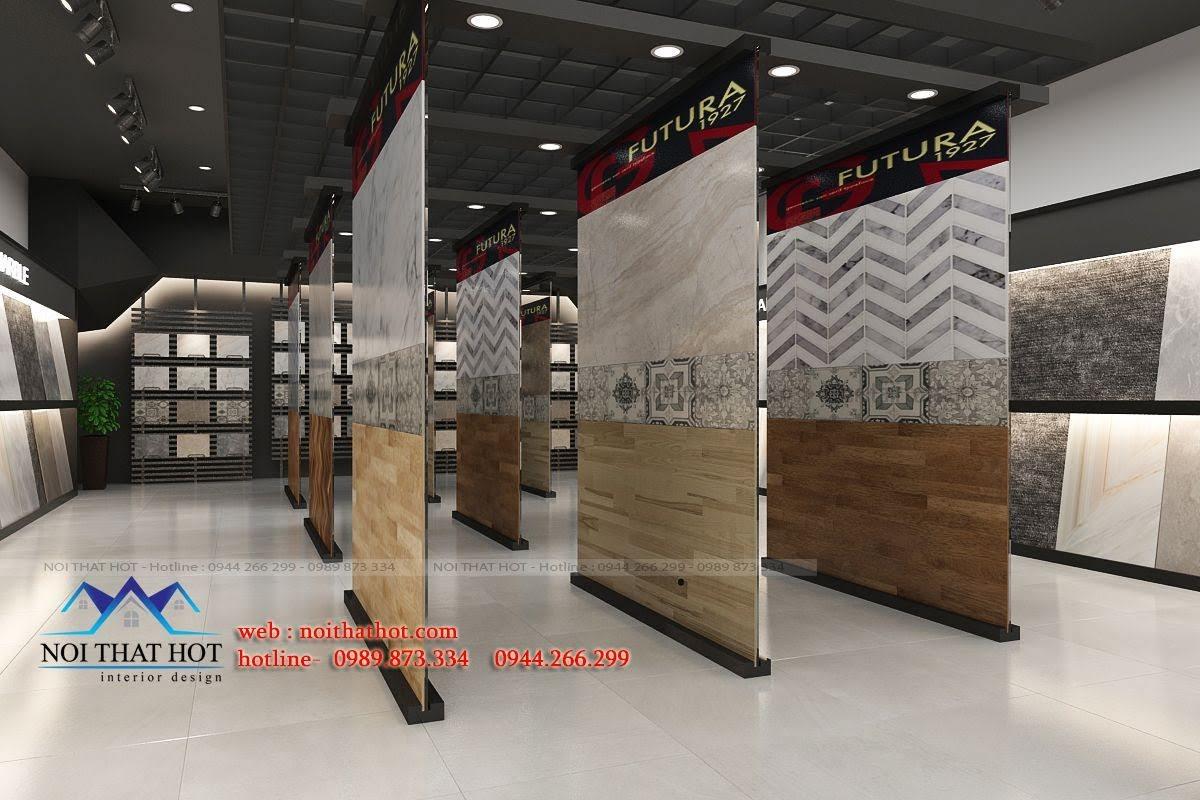 thiết kế cửa hàng vật liệu xây dựng độc đáo