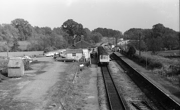 Photo: Lifting the old down track nearly complete at Charlbury (June 1972)