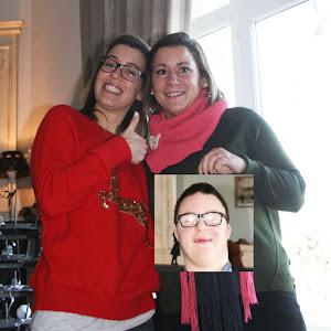 Lucie et Laurène, parrainées par Gaëtan, pour soutenir le projet de L'Arche à Clermont-Ferrand