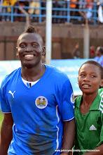 Photo: Alhassan 'Crespo' Kamara moments after scoring (Leone Stars) [vs. Tunisia, June 2013 (Pic: Darren McKinstry)]