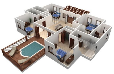 Nápady 3D designu domů - náhled