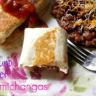 Ground Beef Chimichangas.