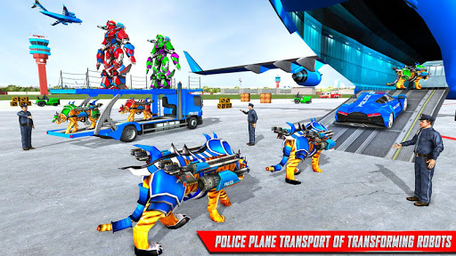 US Police Tiger Robot Game: Police Plane Transport 1.1.2 screenshots 6