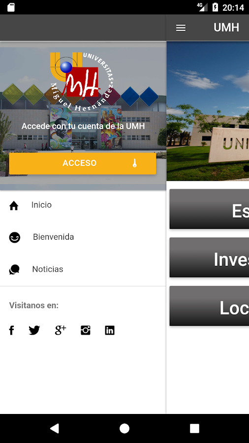 UMH app- screenshot