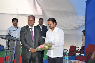 Photo: Mr. R.K. Agrawal Welcome Spacial Guest Shree. Kiran Paturkar
