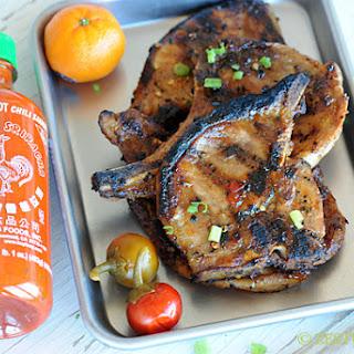 Grilled Orange Sriracha Pork (or chicken)