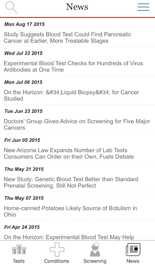 Lab Tests Online-M- screenshot