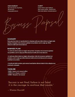 Churchill Proposal - Business Proposal item