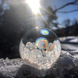 snow angel by Melissa Poling - Instagram & Mobile iPhone ( no filter, winter, noon, magical, ice, beauty, create,  )
