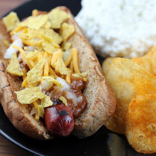 Chili Corn Chip Hot Dogs