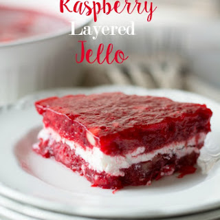 Raspberry Layered Jello