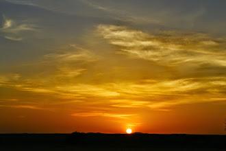Photo: Sunset in the desert