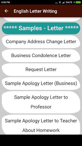 English Letter Writing 1.0 screenshots 2
