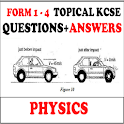 PHYSICS KCSE  TOPICAL QUESTIONS+ANSWERS (FORM1- 4) icon