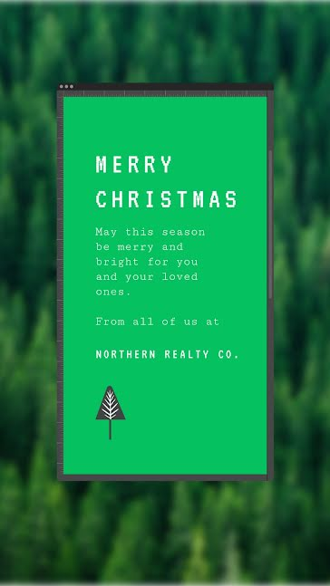 Merry Christmas Trees - Christmas Template