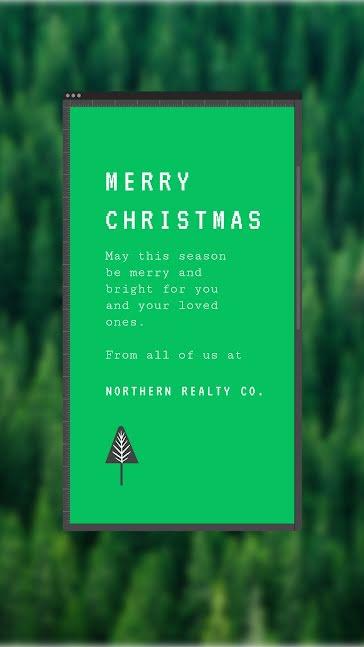 Merry Christmas Trees - Christmas template