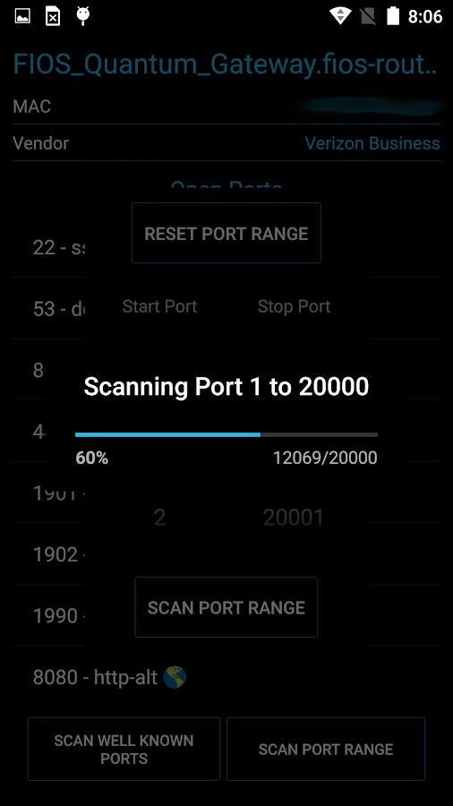 Port Authority - Port Scanner- screenshot