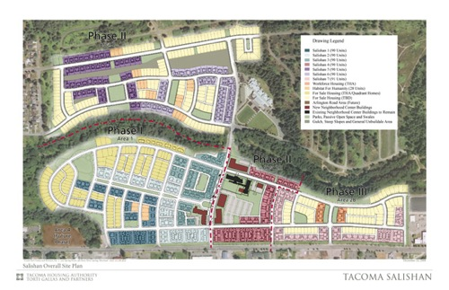Tacoma Housing Authority's Salishan Redevelopment Project Site Plan