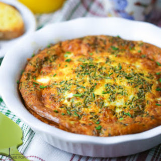 Ham and Cheddar Crustless Quiche