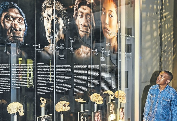 The visitors' centre at Maropeng is home to an array of fascinating displays.