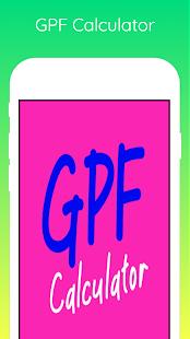 Download GPF Interest Calculator For PC Windows and Mac apk screenshot 1