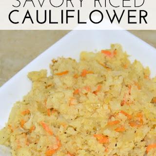 Savory Riced Cauliflower - Low Carb Side Dish Recipe