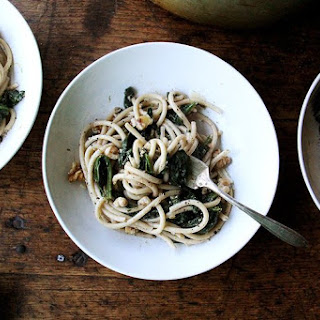 Two-Pan Pasta with Spinach, Walnuts and Lemon Recipe