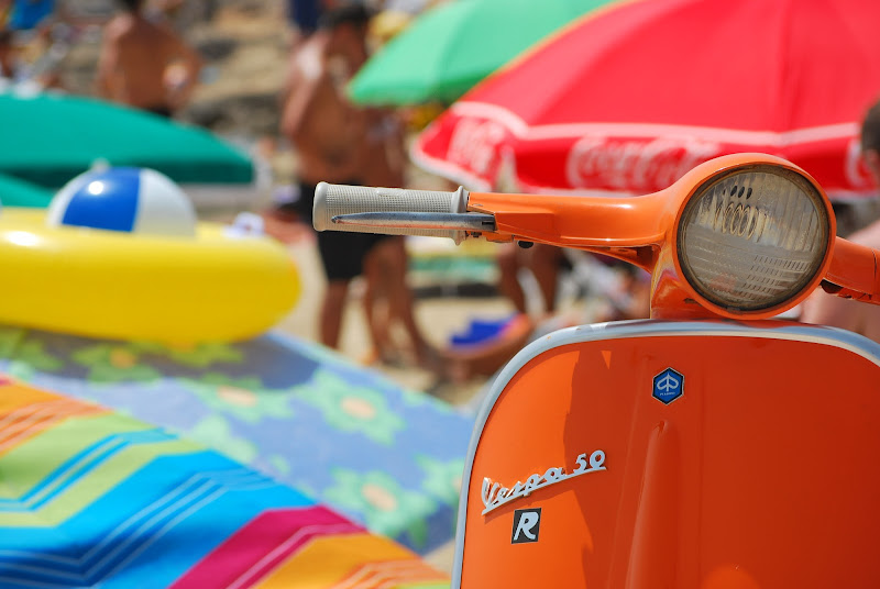 In spiaggia in stile vintage di Jorjo
