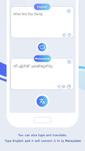English to Malayalam Translate - Voice Translator screenshot 4