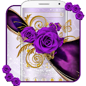 Luxury Purple Rose Theme Android APK Download Free By Fancy Theme Palace
