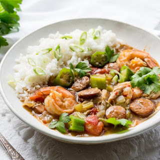 Chicken, Sausage & Shrimp Gumbo.