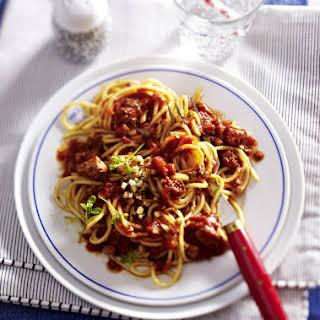 Vegan Spaghetti Bolognese.