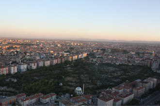 Photo: Looking out at Konya from one of the highest points.