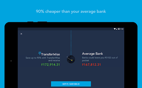 TransferWise Money Transfer- screenshot thumbnail