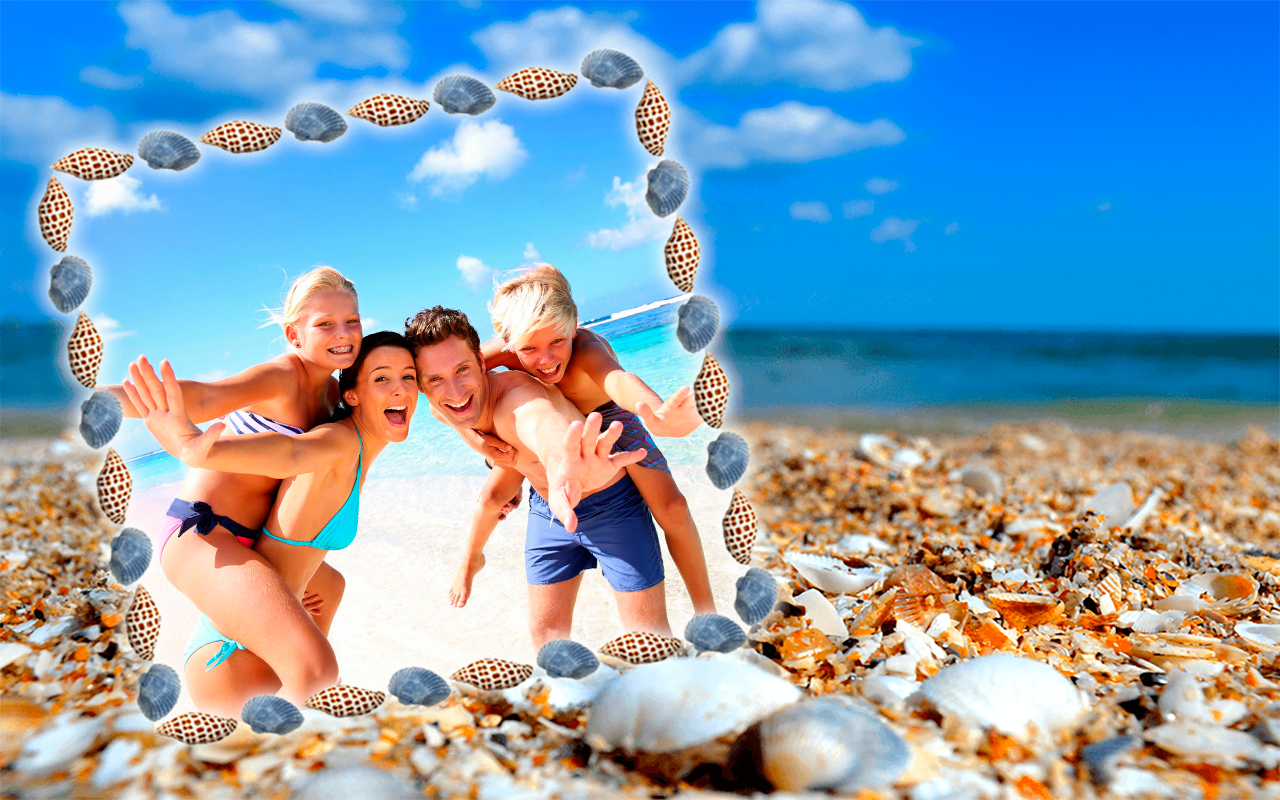 Seashell Photo Frames Apl Android Di Google Play