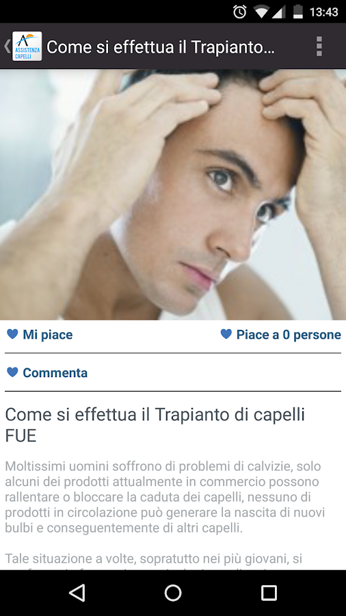 Assistenza Capelli- screenshot