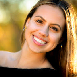 Grace I by Mark Ritter - People Portraits of Women ( woman, beauty, bokeh, model, portrait, backlit, smile )