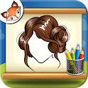 How to Draw Hairstyles Step by Step Drawing App icon
